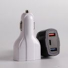 China APPACS AB01006 ABS Material Universal Dual Usb Fast Charging 2.1a Car Charger For Mobile Phone factory