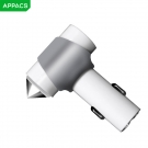 China APPACS AB01008 Aluminum Alloy 5v 3.4a Safety Hammer Dual Usb Car Charger factory